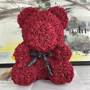 Image 4 - 2019 ใหม่ 25/40 ซม.หัวใจสีแดง Teddi Bear Rose ดอกไม้ประดิษฐ์ดอกไม้ตกแต่งของขวัญคริสต์มาสของขวัญวาเลนไทน์
