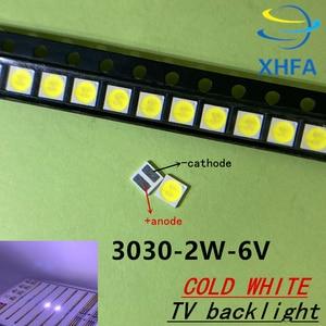 200 шт. Lextar хорошей устойчивостью к высокой Мощность светодиодный Подсветка 1,8 Вт 2 3030 6 V холодный белый 150-187LM PT30W45 V1 ТВ Применение 3030