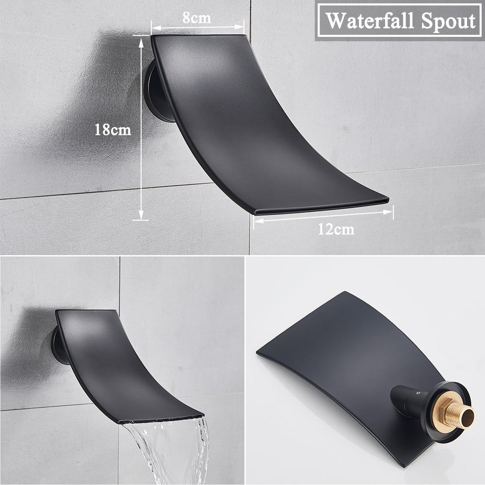 Hd615fcda21e445ccba7dc48ff4d467efG Waterfall Matte Black Bathroom Shower Faucet Black Digital Shower Faucets Set Rainfall Shower Head Digital Display Mixer Tap