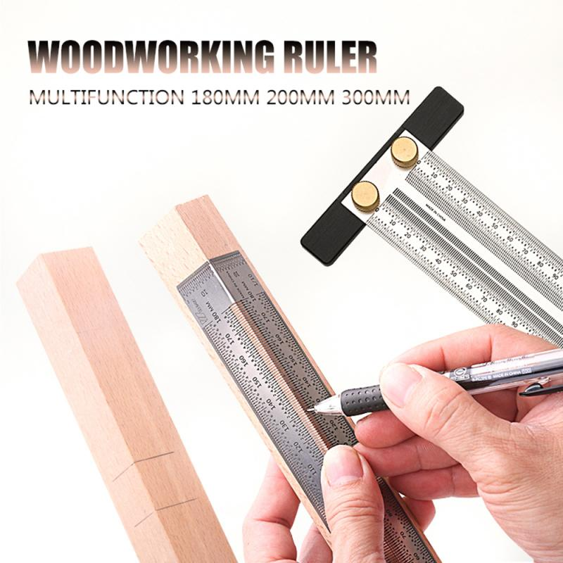 Ultra Precision Marking Multifunction Ruler T Type Square Woodworking Tool