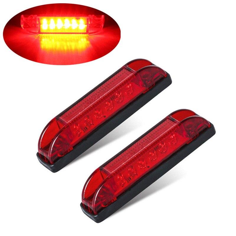 2PCS Red Side Light Truck Trailer Lights Waterproof LED Indicator Light Warning Lamp 12v Trailer Lights Side Marker Lamp