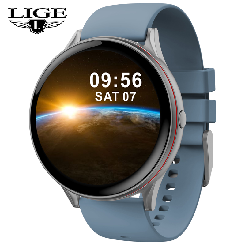 LIGE 2020 New Smart Watch Men's Sports Fashion Heart Rate Blood Pressure Sleep Fitness Tracker Smartwatch Pedometer Smart Watch