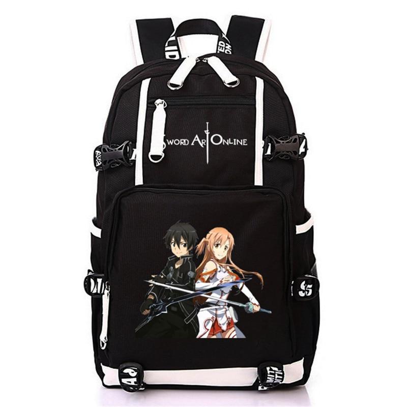2019 femmes hommes Anime épée Art en ligne SAO sac à dos sac à dos Mochila cartable sac pour école garçons adolescents filles étudiant voyage