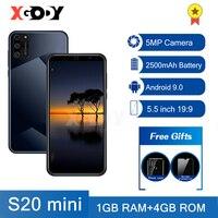 XGODY-teléfono inteligente 3G, 1GB, 4GB, cámara de 5MP, Android, SIM Dual, 5,5 pulgadas, WiFi, móvil S20, desbloqueo, Quad Core
