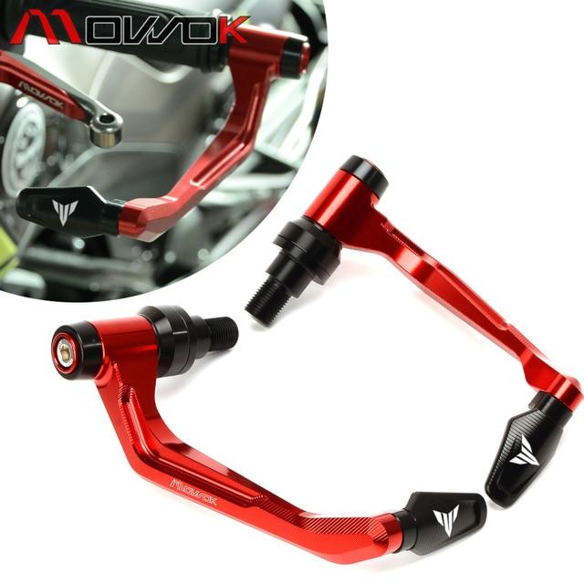 For YAMAHA MT07 MT09 MT 10 MT 125 MT 03 MT 01 XSR Handlebar Grips Brake Clutch Levers Guard Protector+Hand Grips Bar End Cap