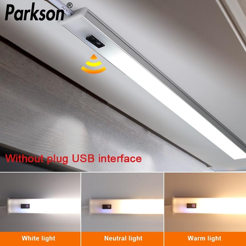 5 в USB питание светодиодный кухонный светильник для шкафа с ручной разверткой Сенсорная лампа Высокая яркость умный сенсорный шкаф СВЕТОДИО...