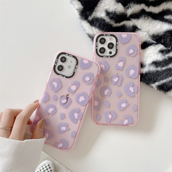 For IPhone 11 Creativity Cute Leopaid Pink Sinple Cover For IPhone 6 7 8 Plus X Soft Silicone 11 11Pro 12Pro XS Max ES2020 Cases