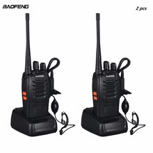 2pcs VHF/UHF Baofeng BF-888S Portable FM Transceiver Rechargeable Walkie Talkie in Two Senses 5W 2-way Ham Radio Comunicador(China)