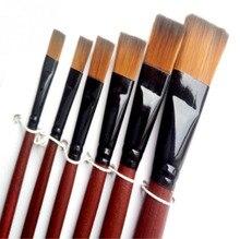 цена на 6pcs/set Artist Painting Brushes Pens Painter Students Acrylic Nylon Paint Brushes 820