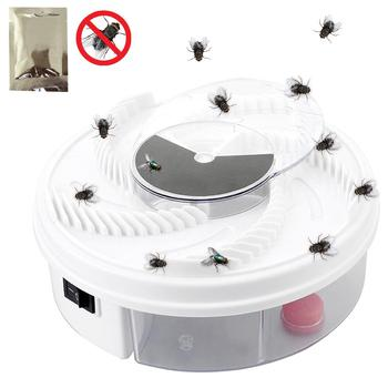 Insect Traps Fly Trap Electric USB Automatic Flycatcher Fly Trap Pest Reject Control repeller Catcher Mosquito Flying Fly Killer electric flycatcher automatic fly trap device with trapping food fly catcher trapper pest insect flytrap usb type fly trap bait