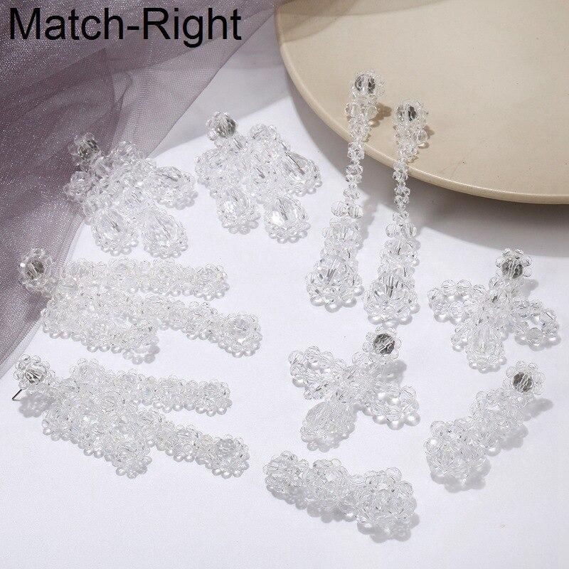Match-Right Statement Maxi Big Earrings For Women Korean Long Dangle Hanging Drop Earrings Pendant For Bridal Wedding SP971