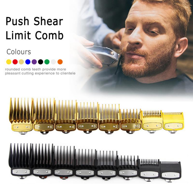 8pcs/set 9 Colors Professional wahl Hair Clipper Combs Cutting Guide Combs Barber Replacement