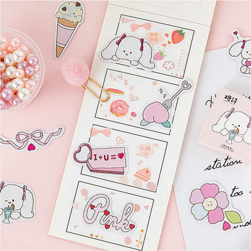 45 pçs adorável rosa bonito caderno bloco de notas adesivo criativo prático substituível adesivo papelaria presente viajante diário