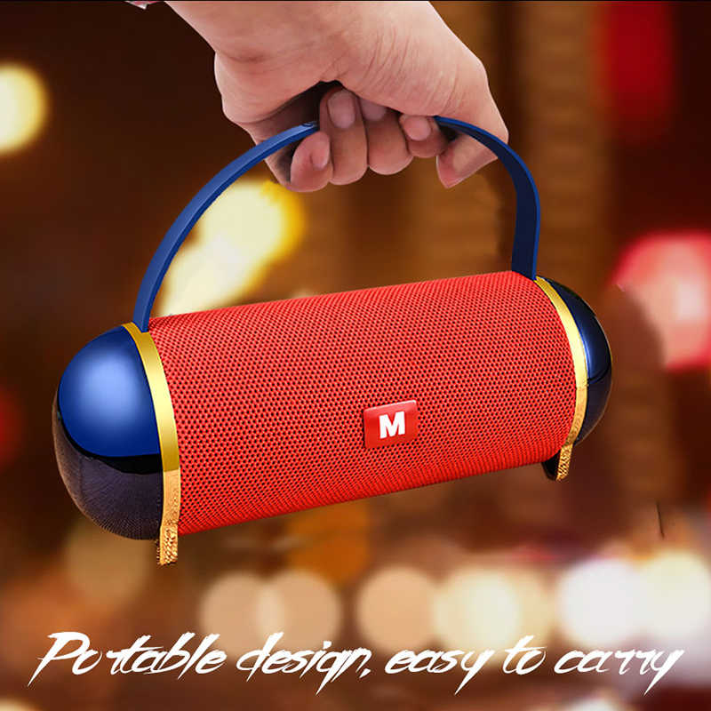 Terbaik Soundbar 20W Big Power Speaker Portable Enceinte Bluetooth Speaker Tahan Air Spike BOOMBOX 3D Musik Stereo Subwoofer Kotak