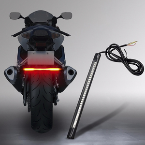 2020 Flexible Motorcycle 48 LED Strip Rear Tail Brake Stop Turn Signal Light Lamps Motorcycle Accessories Waterproof Light Bar