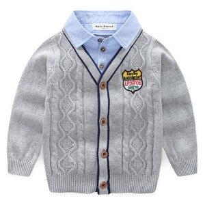 Image 2 - Orangemom春の新幼児のセーター子供のカジュアル長袖ターンダウン襟ニットベビーセーター服、1pc