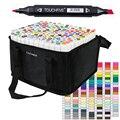 60/80/168 цветов маркеры, набор ручек для детей, Студенческие маркеры для рисования, манга, сенсорный, пять маркеров, школьные товары для рукодел...