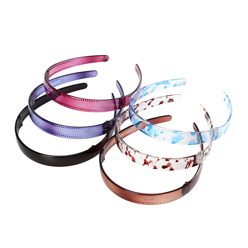 LEVAO New Foldable Hairbands Solid Color Headband Bezel Plastic Turban For Women Girls DIY Hair Accessories Hair Hoop Headwear