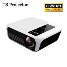 лучшая цена T8 Full HD LED Projector Android Portable Vedio Projector 1920*1080P HDMI Mini Projector 4k 5000 Lumens Home Cinema Media Player