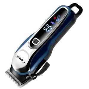 Image 2 - 調整可能なプロのバリカン理髪男性電気髭カッター毛髪切断装置の散髪コードレス