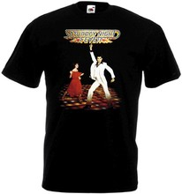 Saturday Night Fever v.2 T-shirt black Movie Poster all sizes S...5XL(China)