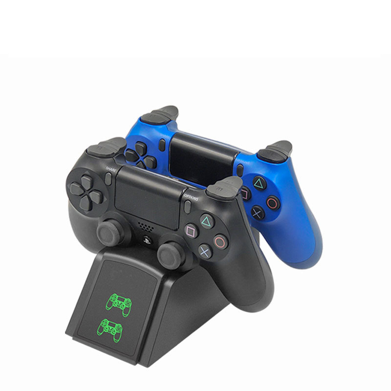 PS4 Controller Charger Dual USB Fast Charging Dock Station for Sony Playstation 4 PS4/PS4 Slim/ PS4 Pro Controller Gamepad