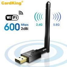 Двухдиапазонный беспроводной USB Wi-Fi адаптер CardKing 600 Мбит/с, сетевая карта 2,4G/5 ГГц, беспроводная сеть с антенной 802,11. ac для настольного ноутбук...
