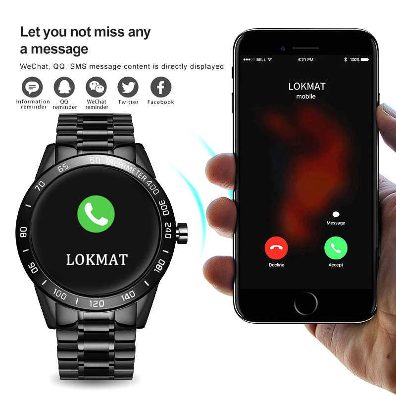 Lige Thép Không Gỉ Thông Minh Chống Thấm Nước Đồng Hồ Nam Dây Da Smart Watch Thể Thao Dành Cho iPhone Đo Nhịp Tim Huyết Áp Theo Dõi Đồng Hồ Thông Minh Smartwatch