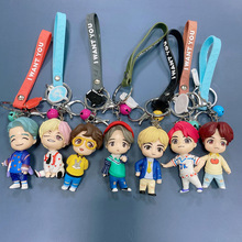 Girl Toys For Bangtan Boys Figure Doll Key Ring Adult Pendant Decoration Cartoons Selected Gift Giving Hand Doll Bell Kid's Gift