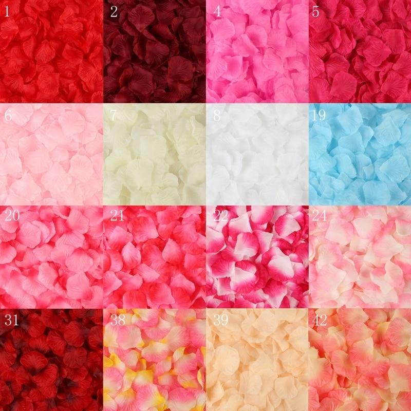 BlacklakeGirls 2020 Newest 2000 Pcs Artificial Rose Petals Wedding Petalas Colorful Silk Flower Accessories
