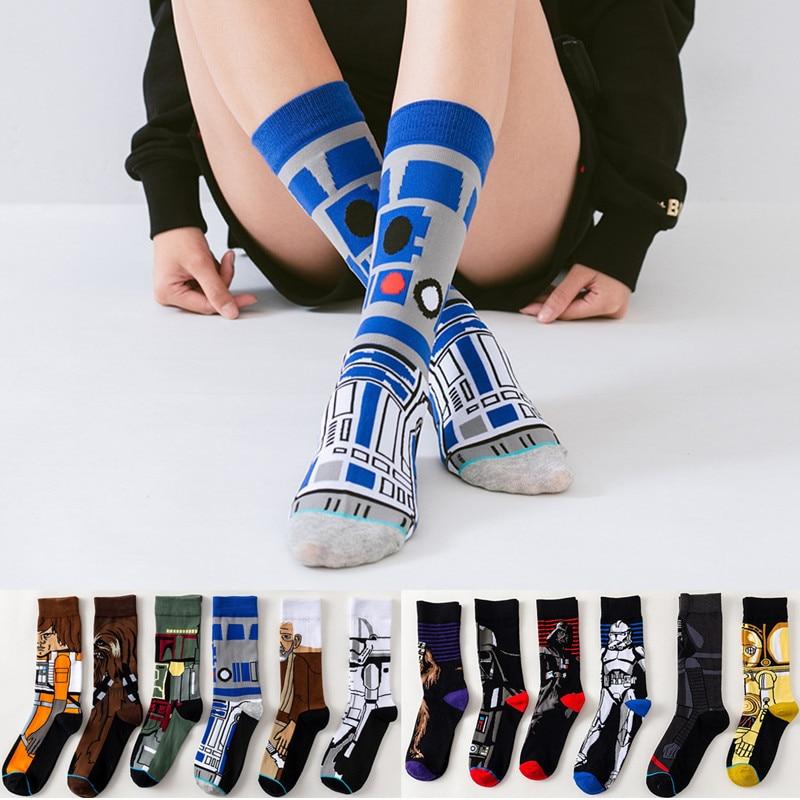 Звездные войны фильм чулки Мастер Йода R2-D2 косплей носки Wookiee Рыцарь Джедай Новинка мужские женские носки весна осень зима