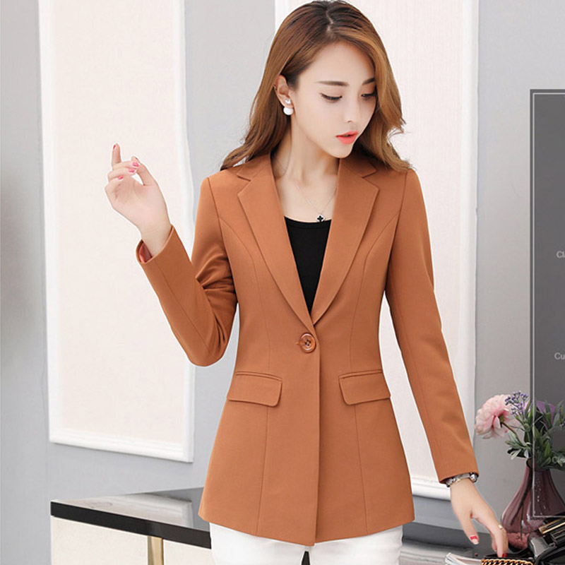 New Casual Suit Female Wild Jacket Spring Autumn Long Fashion Coat Korean Version Waist Suit Women Jacket