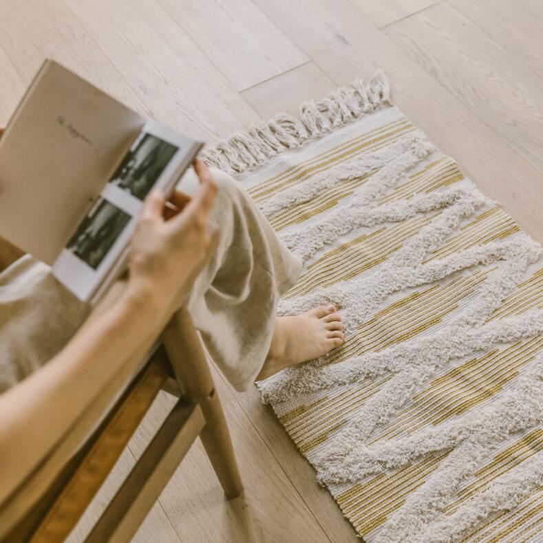 Géométrique rétro tapis coton lin canapé salon chambre à coucher artisanal glands tapis Table basse coureur Jacquard tapis de sol - 5