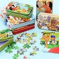 Новинка! 60 шт. деревянные игрушки головоломки игрушки для детей мультфильм животных деревянные головоломки для детей раннего образования о...