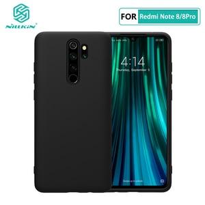 Image 1 - Redmi Note 8 Pro Case Casing NILLKIN Liquid Smooth Silicone Case For Xiaomi Redmi Note 8 Pro Cover Luxury Protective Bags