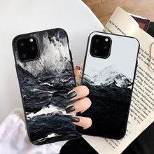Art Water Pattern Phone Case For iPhone 12 X XR XS 11 Pro Max 8 7 6s Plus Soft TPU Silicone Sea billow Print Cover Cases Coque