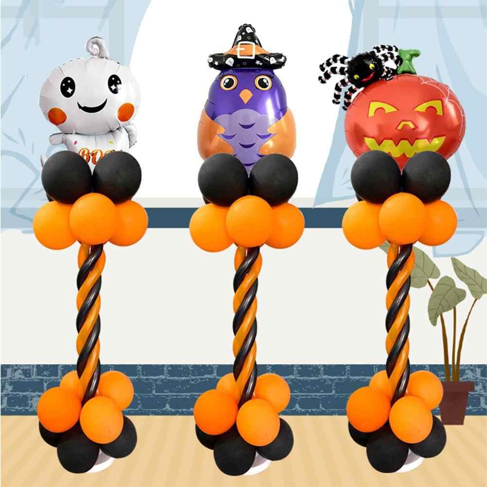 Kuulee Хэллоуин спиральная колонна алюминиевый набор воздушных шаров летучая мышь