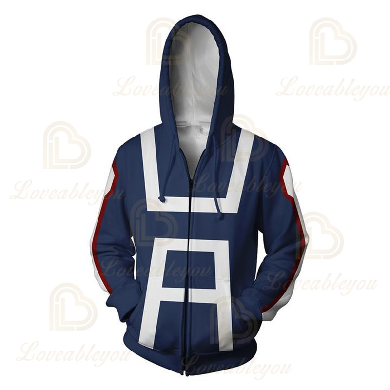 Anime Hoodies Sweatshirts Boku No My Hero Academia Cosplay Costumes Bakugou Todoroki Shoto Spring/Autumn Coat 9