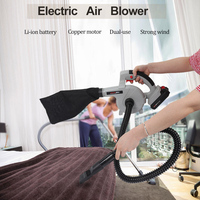 24V 2000mAh Dual Use Electric Air Blower Computer Dust Collector Rechargeable Dust Blowing Dust Computer Cleaner Air Blower