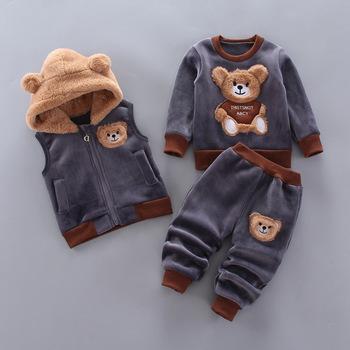 Moda dla niemowląt chłopców ubrania jesień zima ciepłe ubrania dla dzieci ubrania sportowe dla dzieci stroje noworodka ubrania zestawy odzieży dla niemowląt tanie i dobre opinie COTTON Poliester W wieku 0-6m 7-12m 13-24m 25-36m CN (pochodzenie) Unisex O-neck Swetry Pełna REGULAR Pasuje prawda na wymiar weź swój normalny rozmiar