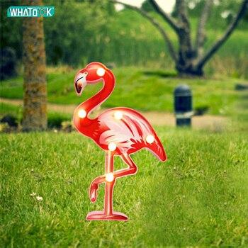цена 3D Flamingo Night Lights Led Desk Table Lamp 3D Wall-Lamp Luminaria Birthday Party Home Desk Decoration Children Kids Gifts Toy онлайн в 2017 году