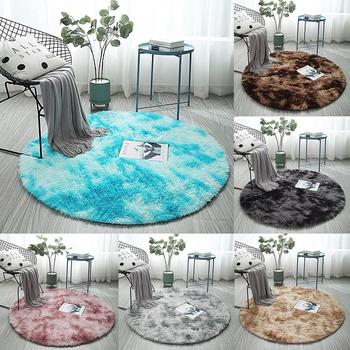 Soft Round Fluffy Area Rug Soft Plush Carpet in Carpet Living Room Floor Mat Home Decoration plush carpets for living room image