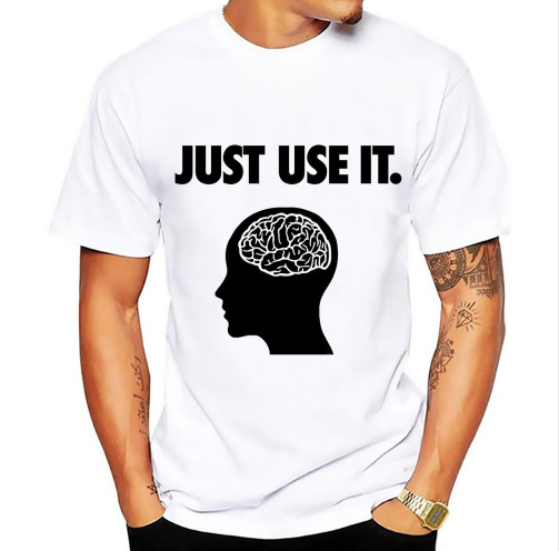 2020 Summer Printed T Shirt Just Use It Your Brain Men's T Shirt Q6291