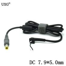 7.9*5.5mm macho plug dc power jack carregador cabo de cabo conector para lenovo thinkpad e420 e430 t61 t60p z60t t60 t420 t430 portátil