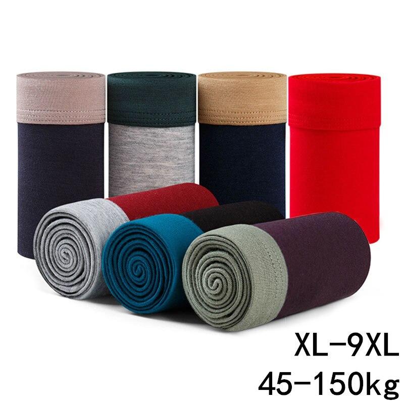 9XL Plus Big Size Men Underwear Male Boxer Lot Solid Panties Shorts Men's Cotton Underpants Breathable Intimate Man Boxers Lots