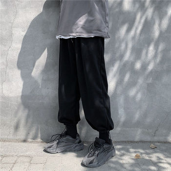 Sweatpants Men's Fashion Solid Color Casual Pants Men Streetwear Joggers Track Pants Wild Loose Hip Hop Straight Trousers Mens autumn new joggers pants men fashion contrast color casual sweatpants men streetwear loose hip hop trousers man track pants
