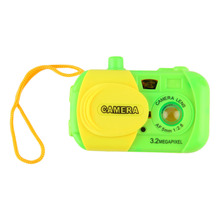Cute Mini Plastic Cameras Toys for Toddler Baby Fashion Green Simulation Camera Kids Gift Ptetend Educational Toy
