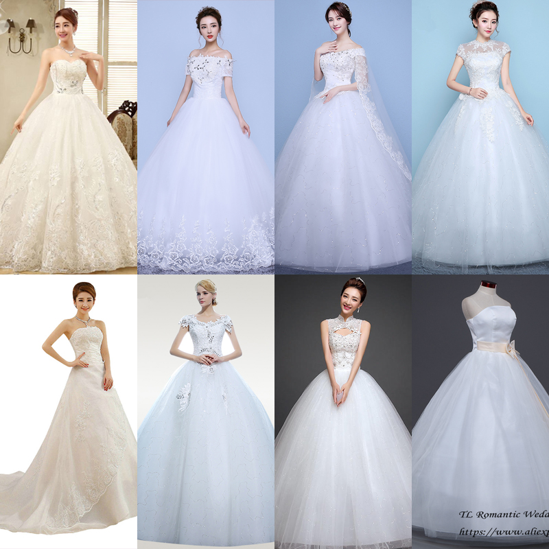 In Stock Wedding Dress Elegant Boat Neck Plus Size Wedding Dresses Crystal LaceVestido De Novia XXN128 More Style Clearance
