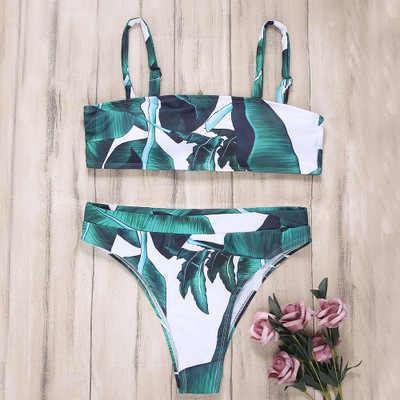 Norns Diskon 2020 Seksi Wanita High Waist Bikini Baju Renang Pakaian Renang Wanita Pita Pengikat Rambut Thong Biquini Bikini Bathing Tub