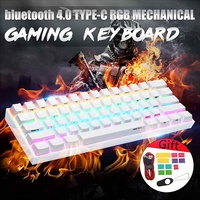 [Gateron Switch]Obins Anne Pro 2 60% NKRO Mechanical Keyboard wireless bluetooth 4.0 Type C RGB Mechanical Gaming Keyboard